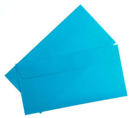 blue envelope isolated on white background.
