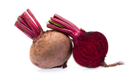 slice of Beetroot isolated on white background.
