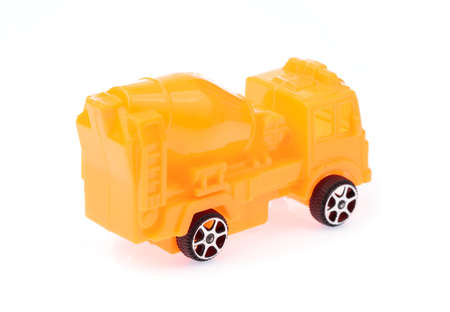 toy truck Concrete mixe isolated over white background