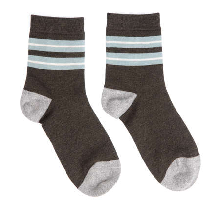 pair of socks isolated on white background 免版税图像