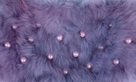 Purple fur texture Stock Photo