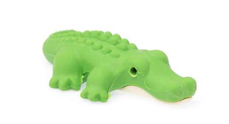 crocodile eraser isolated on white background