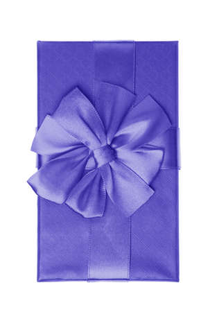Purple gift box isolated on white background Stock Photo