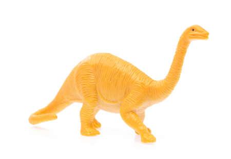toy small dinosaur isolated on white background Stock Photo