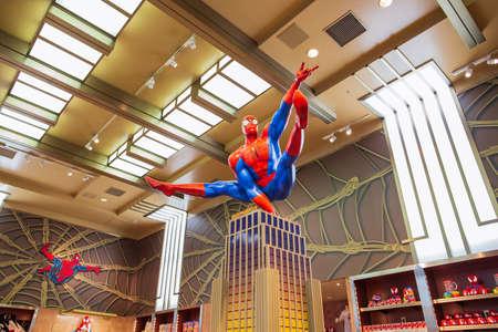 Osaka, Japan - April 14, 2015:Spiderman ride at Universal Studio