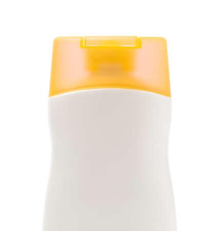 Plastic lotion Bottle isolated on white background