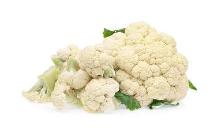 Cauliflower isolated on white background 写真素材