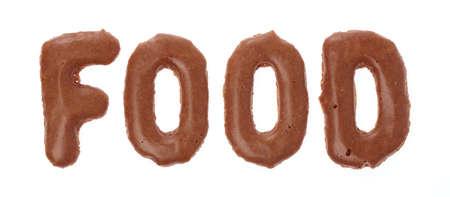alphabet Chocolate Sweet candy font isolated on white background
