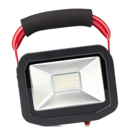 LED sport light for solar energy isolated on white background.