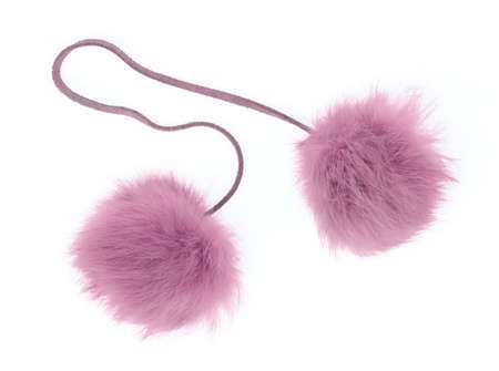 pom fur ball isolated on white background