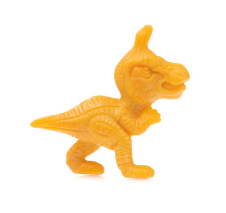 dinosaur toy isolated on white background