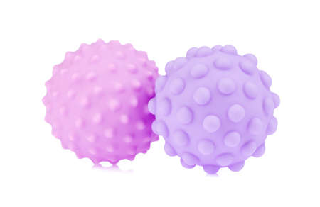 Rubber ball toy isolated on white background Imagens