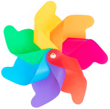 Colored pinwheel Isolated on White background Stok Fotoğraf