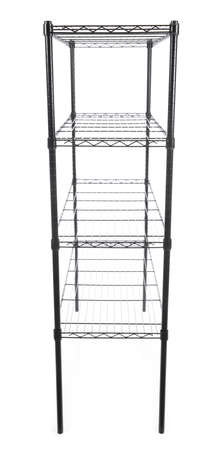 Steel rack isolated on a white background
