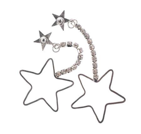 Star Earrings Earring isolated on white background Stok Fotoğraf - 130054970
