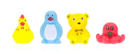 Plastic Toys  Animal isolated on white background