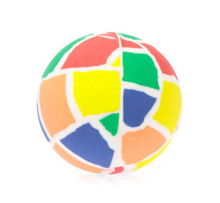 Colorful ball isolated on white background. Stockfoto