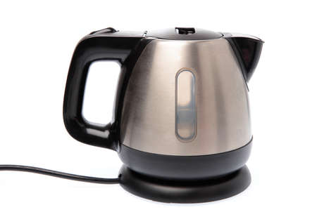 Electric stainless steel kettle isolated on white background Stock fotó