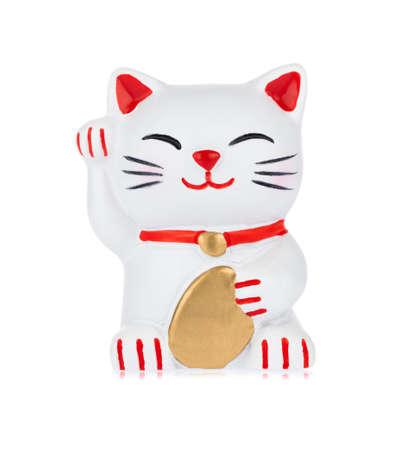 Fridge Magnets shape of cat isolated on white background Imagens