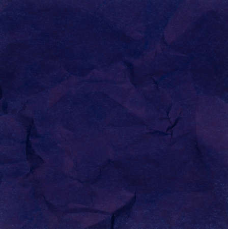 Blue of Crumpled Paper Texture