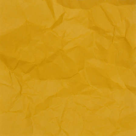 Yellow of Crumpled Paper Texture Imagens