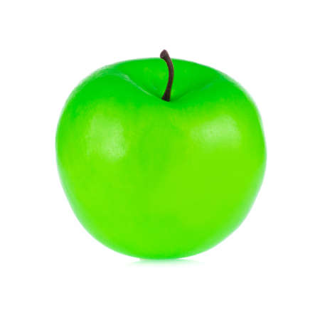 Apple for decoration artificial fruit ornaments artificial foam fake imitation isolated on white background Imagens