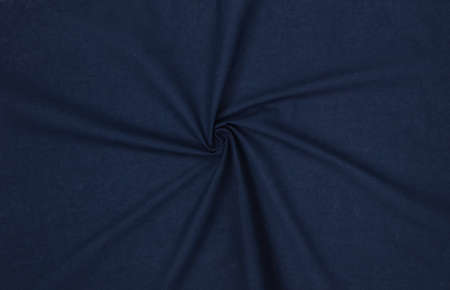 Close Up of Navy blue fabric as background
