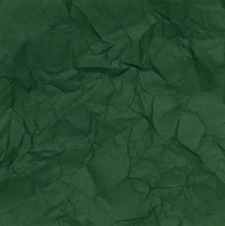 Green of Crumpled Paper Texture