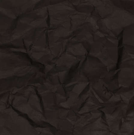 Black of Crumpled Paper Texture