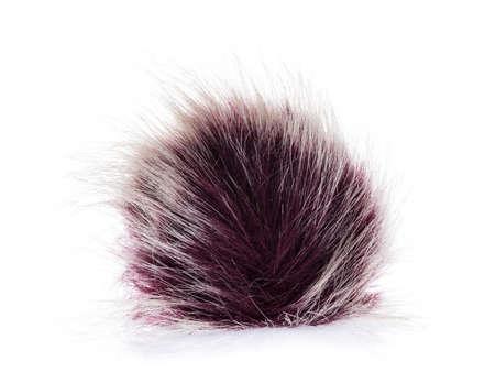 Fur ball isolated on white background Reklamní fotografie
