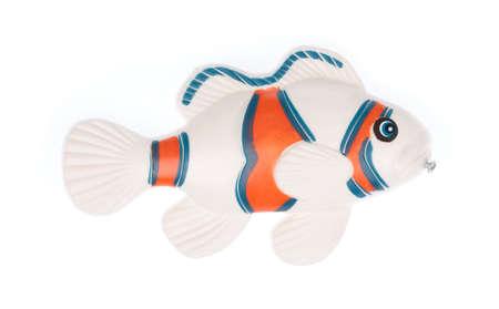 fish toy isolated on white background Zdjęcie Seryjne