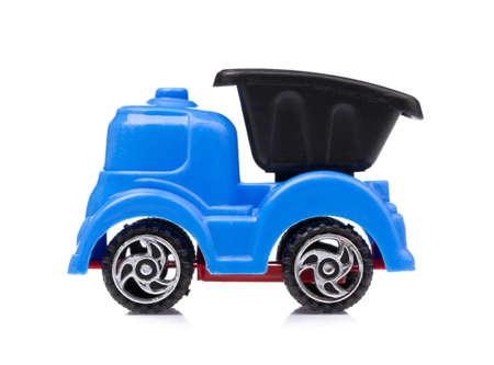Toy Garbage Truck Isolated on white background Zdjęcie Seryjne