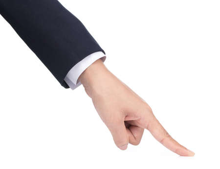 businessman show hand symbol isolated on white background Reklamní fotografie