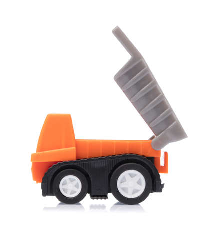 Toy Garbage Truck Isolated on white background Imagens