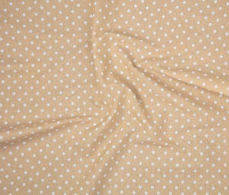 Brown polka dot fabric in full frame Zdjęcie Seryjne
