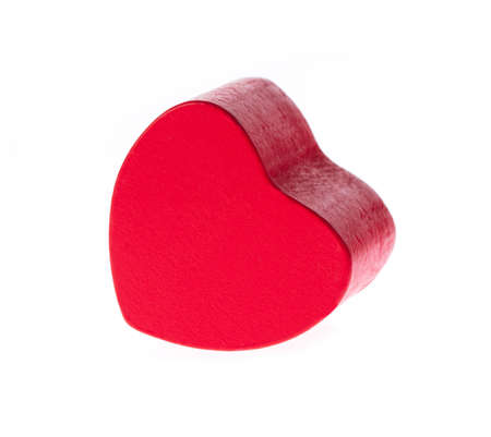 toy heart shape wooden isolated on white background