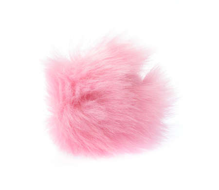 Fur ball isolated on white background Banque d'images