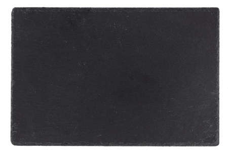 black stone empty rectangular, square dish isolated on white background. Фото со стока