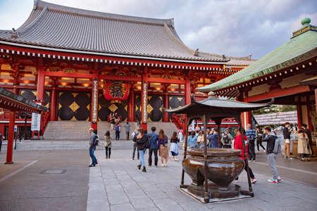 TOKYO JAPAN May - 15, 2019: Sensoji-ji Red Japanese Temple in Asakusa, Tokyo, Japan, Stock image Editorial