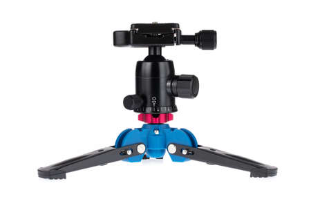 Mini Three Feet Support Tripod Stand Base Monopod Stand For Monopod Ball Head With 3/8 Screw Isolated on white background