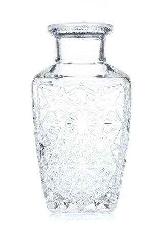 bottle for wine, container whiskey, glass liquor isolated on white background. Reklamní fotografie