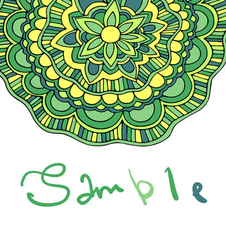 mehendi: Ethnic floral card with place for text.