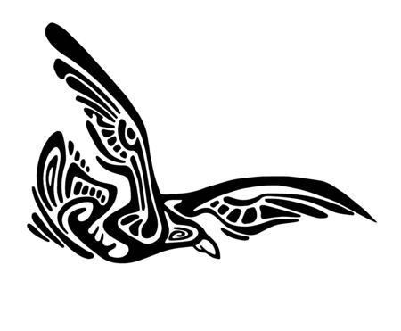 eagle flying: Vector stylized flying wild eagle isolated on white Illustration