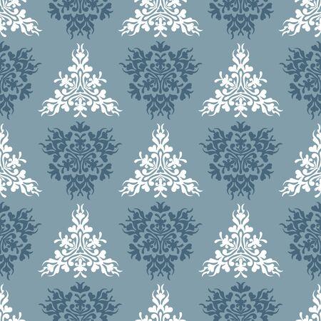 Vector blue royal spring seamless seasonal background