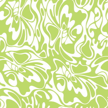 green swirl: Vector color seamless swirl olive background. Green abstract floral texture. Illustration