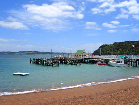 Russell Wharf, Bay of Islands, New Zealand photo
