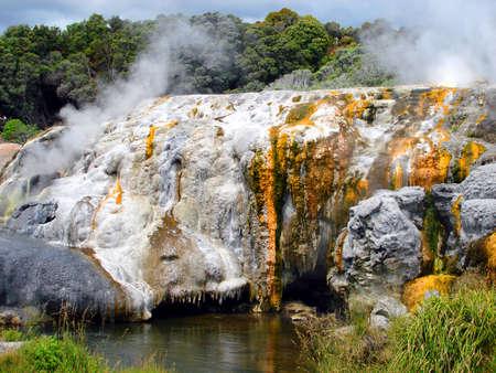 Te: Po Hutu Geyser, Te Puia, Rotorua, New Zealand