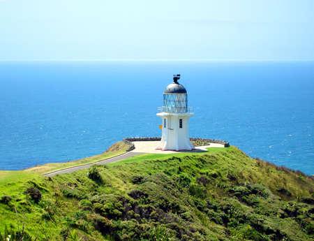 Cape Reinga Lighthouse, New Zealand Stock fotó