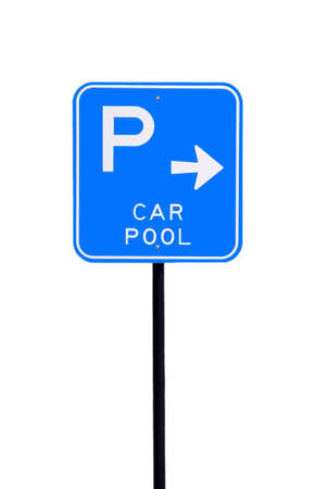 Car Pool Parking Sign - Current Australian Road Sign. Isolated on White