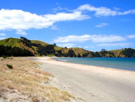 barrier island: Whangapoua Beach, Great Barrier Island, New Zealand